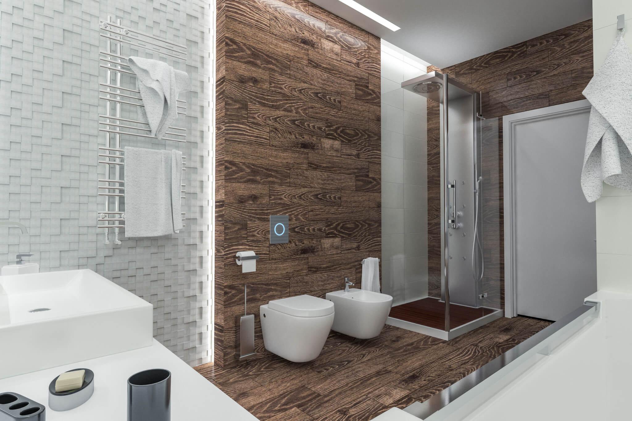 43578209 - modern design of a bathroom with shower
